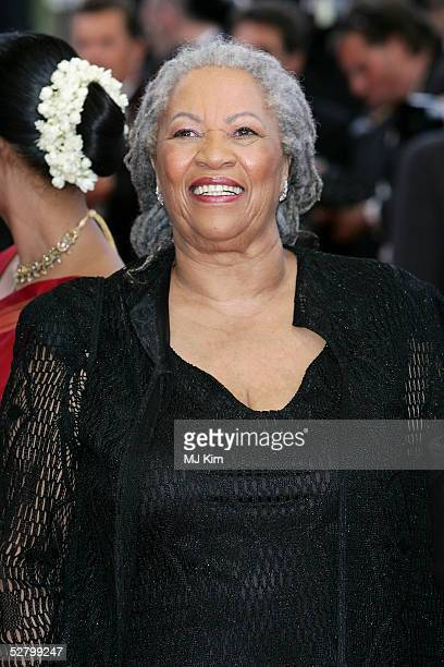 Author Toni Morrison attends the premiere for the film Lemming at Le Palais de Festival on the opening night of the 58th International Cannes Film...