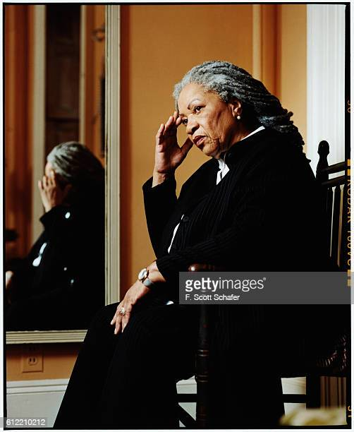 Author Toni Morrison is photographed for Newsweek Magazine in 2003 at home