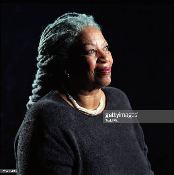 "Author Toni Morrison poses for a portrait for her book entitled ""Love"" in Midtown Manhattan on August 29, 2002 in New York City."
