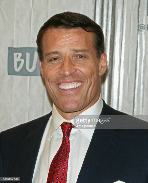 """Author Tony Robbins attends the Build series to discuss """"UNSHAKEABLE: Your Financial Freedom Playbook"""" at Build Studio on March 7, 2017 in New York..."""