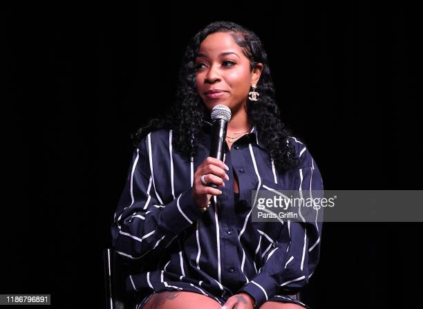 Author Toya Wright speaks onstage during 2019 Atlanta Ultimate Women's Expo at Cobb Galleria Centre on November 10, 2019 in Atlanta, Georgia.