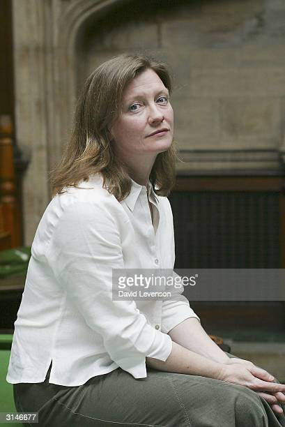 Author Trezza Azzopardi poses for a portrait at the annual 'Sunday Times Oxford Literary Festival' held at the Oxford Union on March 27 2004 in...