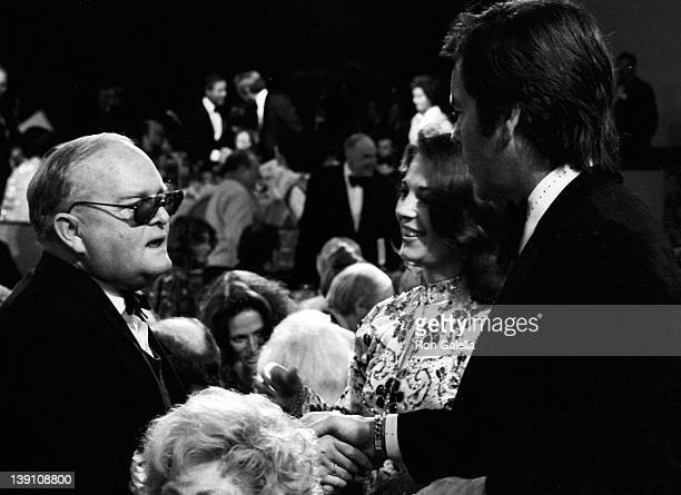 Author Truman Capote actress Natalie Wood and actor Robert Wagner attend Third Annual American Film Institute Lifetime Achievement Awards Honoring...