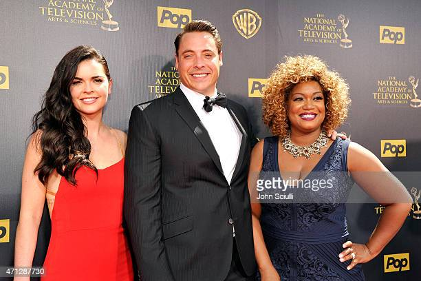 Author/ TV personality Katie Lee TV personalities/chefs Jeff Mauro and Sunny Anderson attend The 42nd Annual Daytime Emmy Awards at Warner Bros...