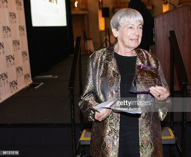 Author Ursula K Le Guin poses with her award at the PEN USA Annual LitFest Awards Gala at the Biltmore Hotel on November 9 2005 in Los Angeles...