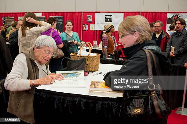 Author Ursula Le Guin booksigning at the 2011 Wordstock Literary Festival at the Oregon Convention Center on October 9 2011 in Portland Oregon