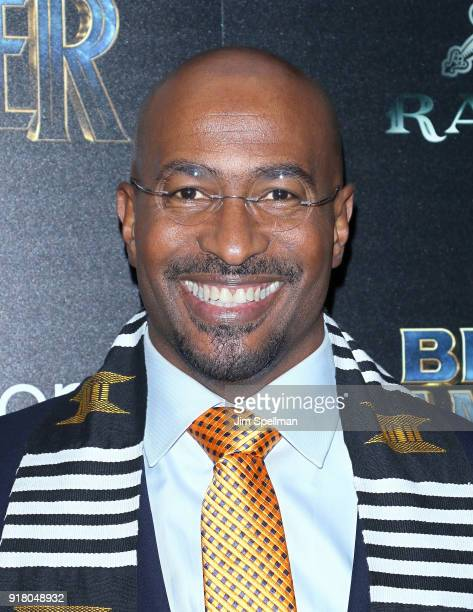 Author Van Jones attends the screening of Marvel Studios' 'Black Panther' hosted by The Cinema Society with Ravage Wines and Synchrony at Museum of...
