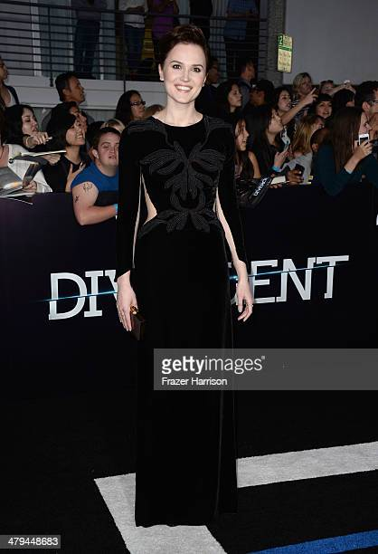 Author Veronica Roth arrives at the premiere of Summit Entertainment's Divergent at the Regency Bruin Theatre on March 18 2014 in Los Angeles...