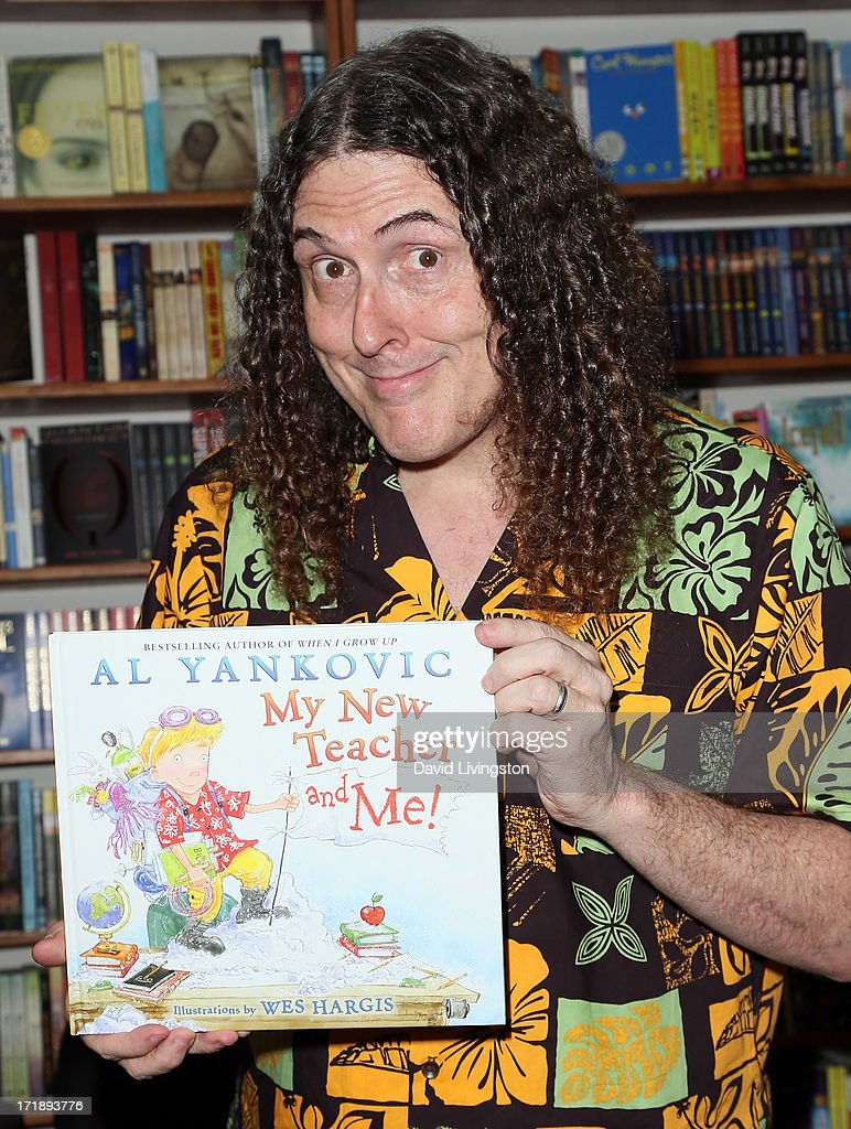 weird al yankovic book signing for
