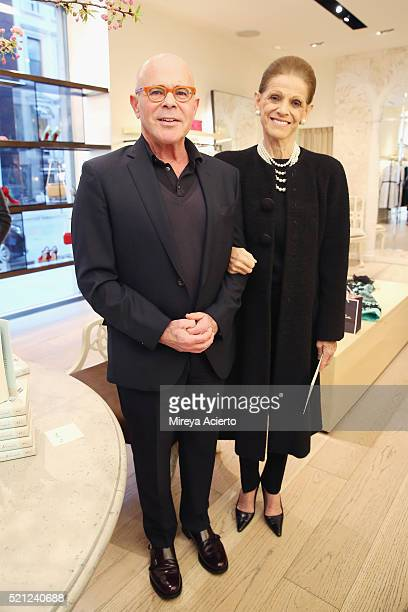 Author William Norwich and philanthropist Annette de la Renta attend his book signing of the new novel 'My Mrs Brown' at Oscar de la Renta Boutique...