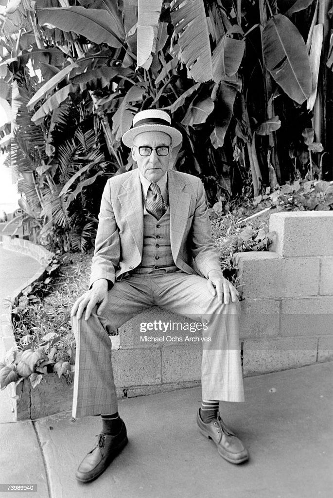 Author William S. Burroughs poses for a portrait circa 1985 in Los Angeles, California