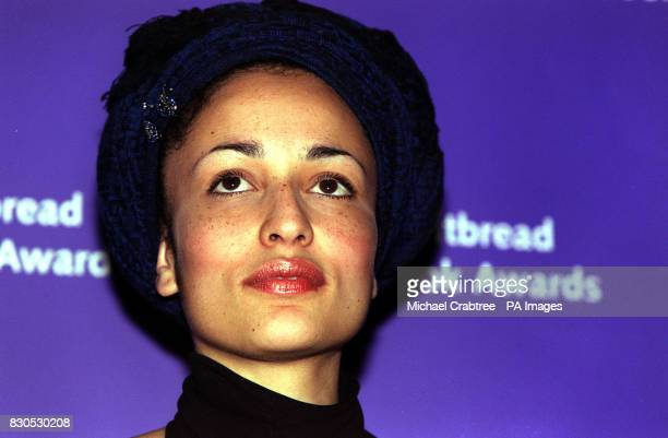 Author Zadie Smith at a photocall before the announcement of the winner of the Whitbread Book of the Year award at The Brewery Chiswell Street in...