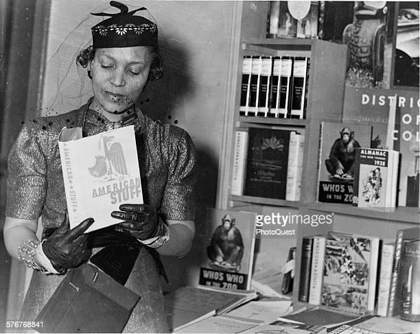Author Zora Neale Hurston at a book fair New York New York circa 1937