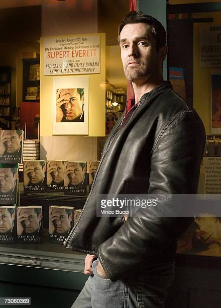 Author/actor Rupert Everett poses prior to a signing for his new autobiography Rupert Everett Red Carpets and Other Banana Skins at Book Soup January...