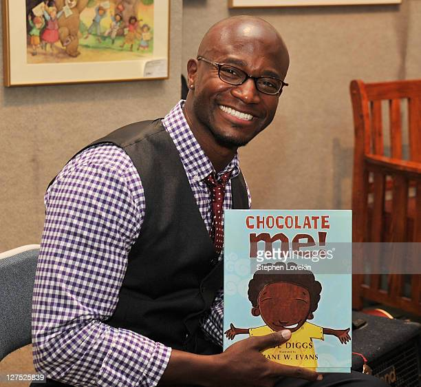 Author/actor Taye Diggs promotes his new book 'Chocolate Me' at Books of Wonder on September 28 2011 in New York City