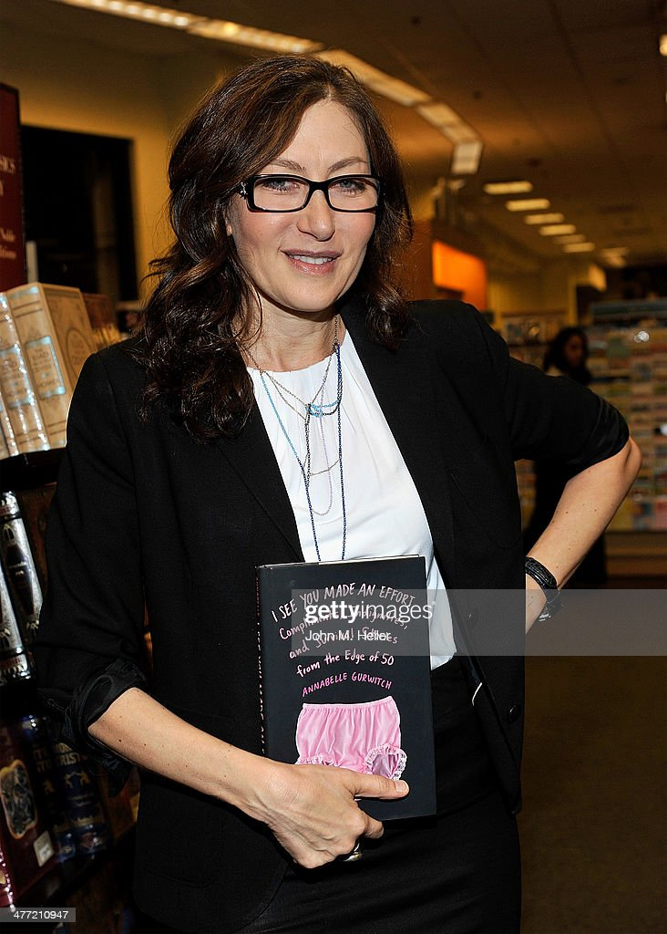 Author/actress Annabelle Gurwitch attends her book signing for 'I See You Made An Effort' at Barnes & Noble bookstore at The Grove on March 7, 2014 in Los Angeles, California.
