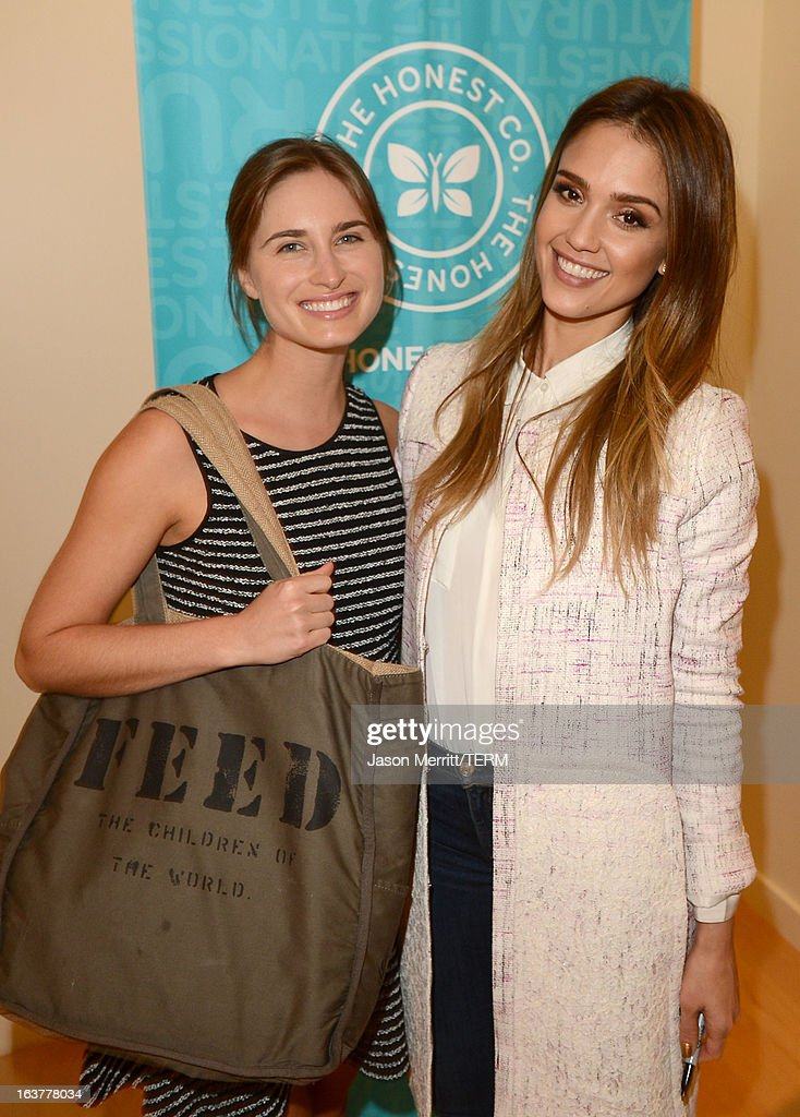Author/actress Jessica Alba and model Lauren Bush attend The Honest Company and The Moms Launch of Jessica Alba's New Book The Honest Life at the Mondrian LA on March 15, 2013 in West Hollywood, California.