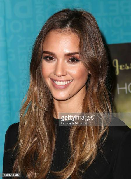Author/actress Jessica Alba presents her new book during Book Signing For 'The Honest Life' at Vroman's Bookstore on March 16 2013 in Pasadena...
