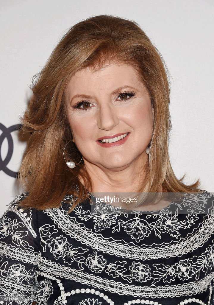 Author/businesswoman Arianna Huffington arrives at the Variety's Power Of Women: Los Angeles at the Beverly Wilshire Four Seasons Hotel on October 13, 2017 in Beverly Hills, California.