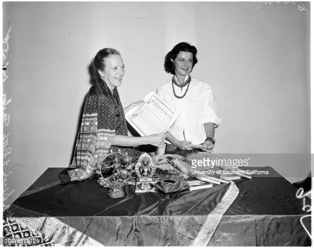Authoress and proponent of Yoga 6 January 1958 Indra Devi Ruth Taylor Caption slip reads 'Photographer Rustan Date Reporter Cowles Assignment Devi...