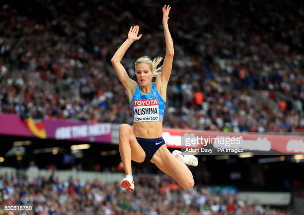 Authorised Neutral Athlete Darya Klishina in action in the Women's Long Jump final during day eight of the 2017 IAAF World Championships at the...