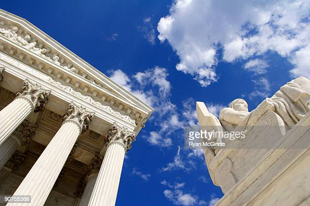 authority of law with supreme court - us supreme court building stock pictures, royalty-free photos & images