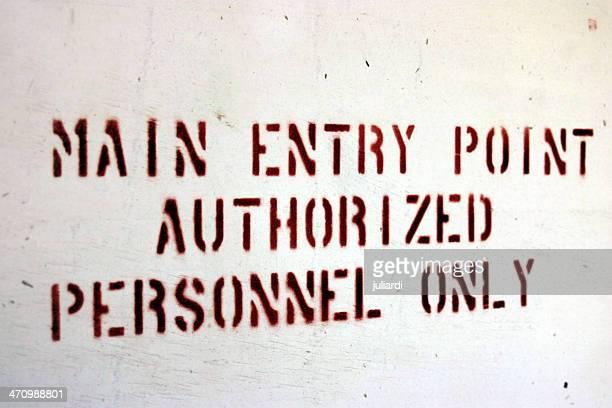 Nur autorisiertes Personal