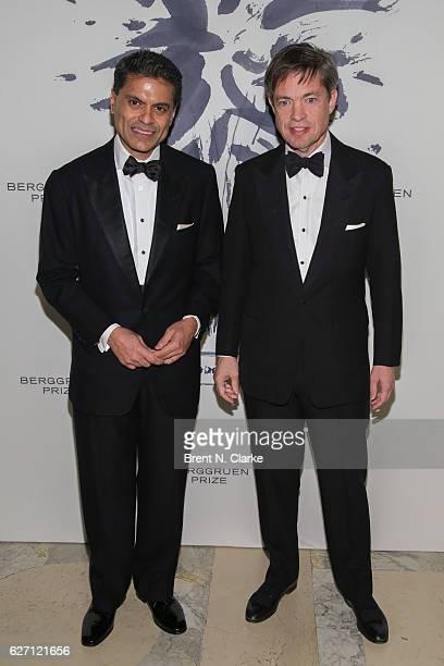 Author/journalist Fareed Zakaria and chairman of the Berggruen Institute Nicolas Berggruen attend The Berggruen Institute's 2016 Berggruen Prize...