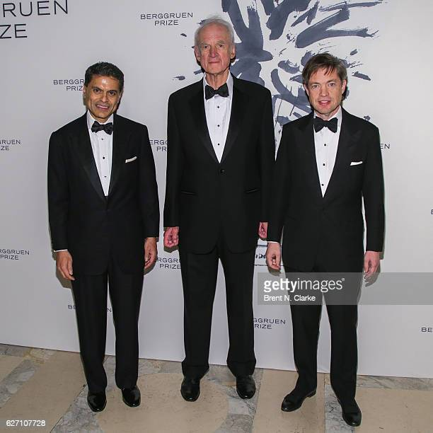 Author/journalist Fareed Zakaria philosopher/professor emeritus McGill University and event honoree Charles Taylor and chairman of the Berggruen...