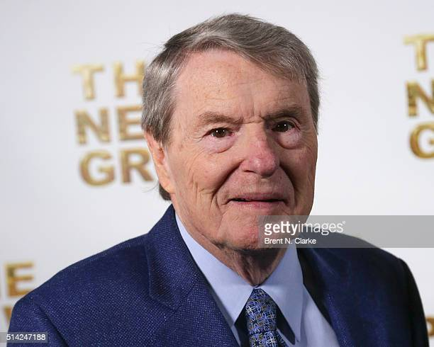 Author/journalist Jim Lehrer attends the 2016 New Group Gala held at Tribeca Rooftop on March 7 2016 in New York City