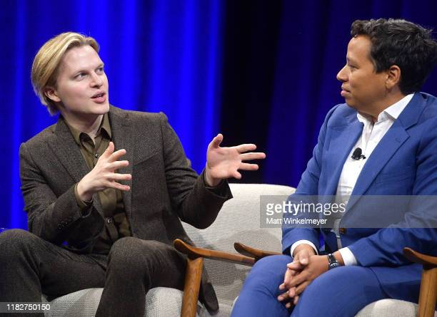 Author/journalist Ronan Farrow and EditorinChief of HuffPost Lydia Polgreen speak onstage during 'Talkin' About Our Generation The Power of Recent...