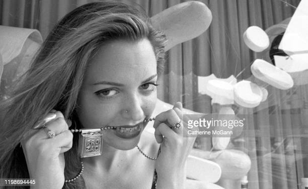 Author/Lawyer/Writer Elizabeth Wurtzel poses for a portrait in Greenwich Village in September of 1994 She is best known for her book Prozac Nation
