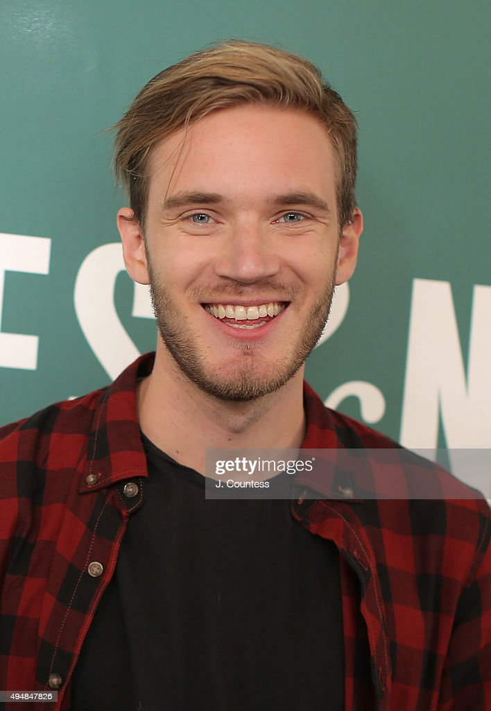 Author/media personality PewDiePie poses for a photo at an