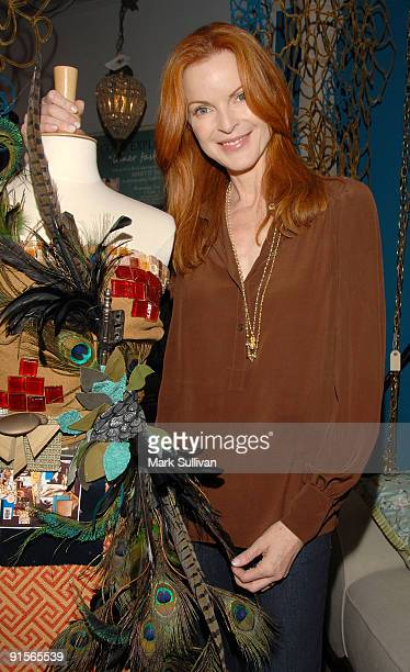 Author/owner of House Actress Marcia Cross attends Annette Tatum's book signing for her new book 'The WellDressed Home' on October 7 2009 in Santa...
