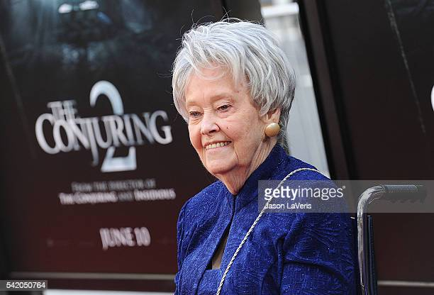 Author/paranormal investigator Lorraine Warren attends the premiere of The Conjuring 2 at the 2016 Los Angeles Film Festival at TCL Chinese Theatre...