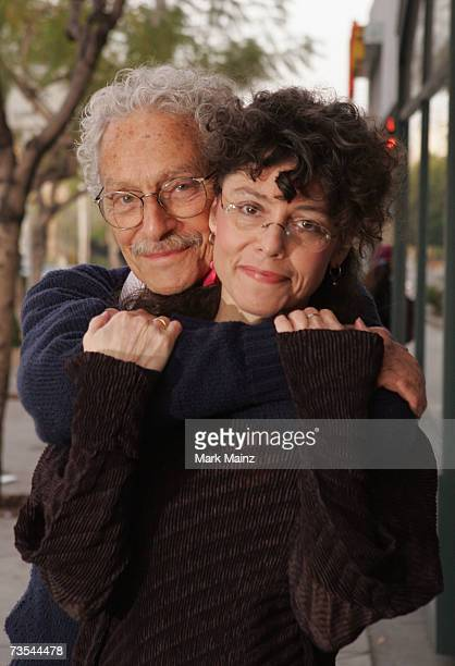 Author/photographer Amy Arbus and her father Allan Arbus pose for a picture before Amy signs copies of her new book at Book Soup March 10 2007 in...