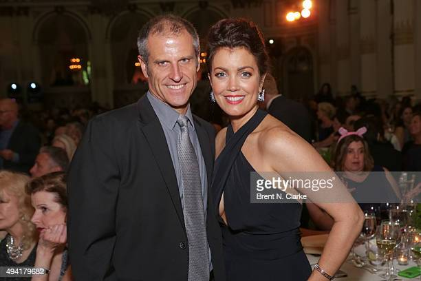 Author/president and cofounder of Farm Sanctuary Gene Baur and actress Bellamy Young attend the 2015 Farm Sanctuary Gala held at The Plaza Hotel on...