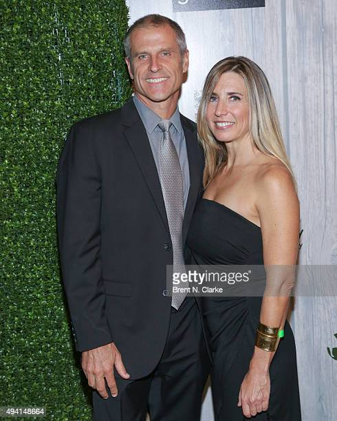 Author/president and cofounder of Farm Sanctuary Gene Baur and Suzanne Pender attend the 2015 Farm Sanctuary Gala held at The Plaza Hotel on October...