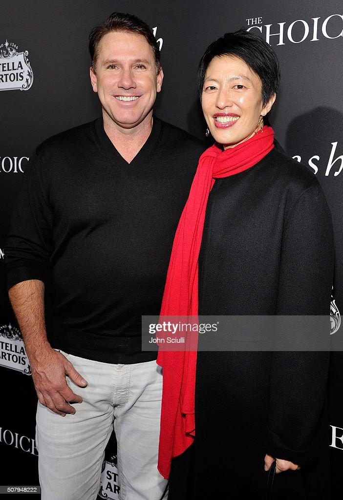 Author/Producer Nicholas Sparks and Publisher Theresa Park attend the premiere of Lionsgate's 'The Choice' at ArcLight Cinemas on February 1, 2016 in Hollywood, California.