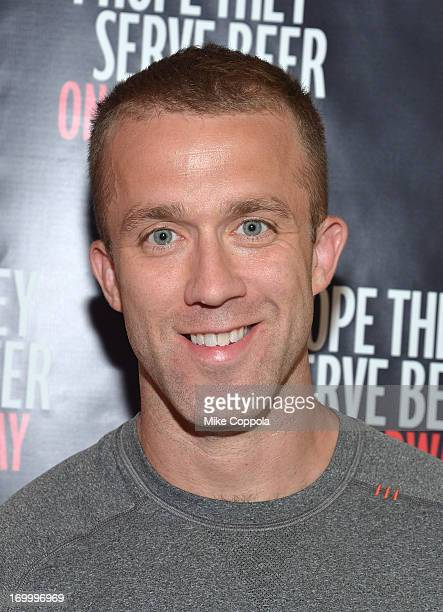 """Author/public speaker Tucker Max poses for a picture before the Off-Broadway opening night of his play """"I Hope They Serve Beer on Broadway"""" at the..."""