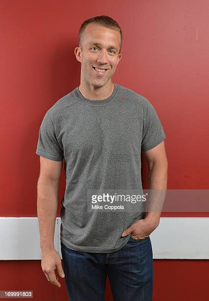 """Author/public speaker Tucker Max poses for a potrait before the Off-Broadway opening night of his play """"I Hope They Serve Beer on Broadway"""" at the..."""
