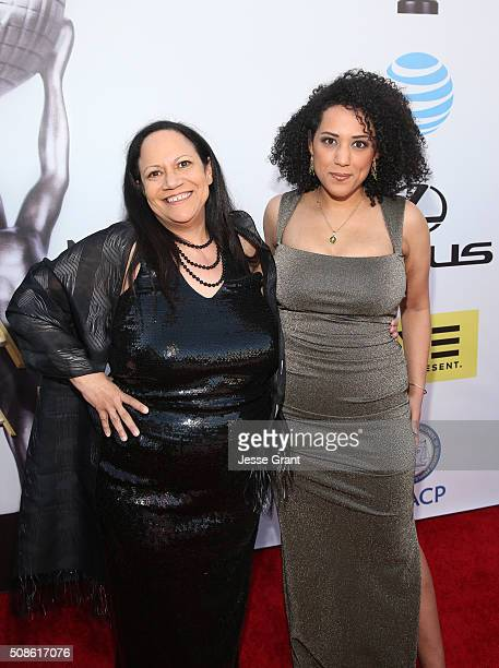 Authors Alice Randall and Caroline Randall Williams attend the 47th NAACP Image Awards presented by TV One at Pasadena Civic Auditorium on February 5...