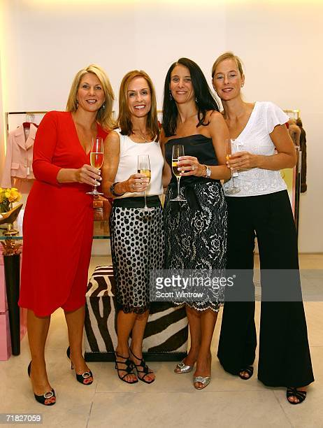 "Authors Ann Haynes, Julia Collins, Claudia Gerbasi and Patricia Carrington attend the book launch of ""Love You, Mean It"" presented by Escada Boutique..."