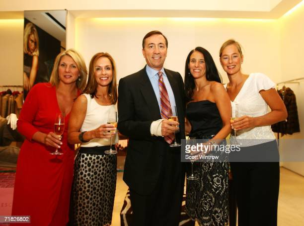 Authors Ann Haynes, Julia Collins, President and COO of Escada USA Lawrence C. DeParis, Claudia Gerbasi and Patricia Carrington attend the book...