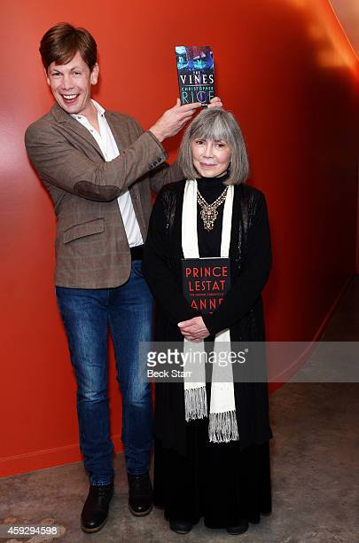 Authors Christopher and Anne Rice attend LiveTalks Los Angeles in conversation discussing 'Prince Lestat The Vampire Chronicles' at Moss Theatre at...