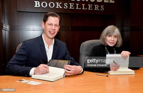 Authors Christopher Rice and Anne Rice sign copies of their books 'The Heavens Rise' and 'The Wolves Of Midwinter' respectively at Barnes Noble...
