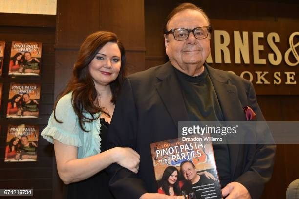 "Authors Dee Dee Sorvino and Paul Sorvino attend their book signing for ""Pino, Pasta, And Parties"" at Barnes & Noble bookstore at The Grove on April..."