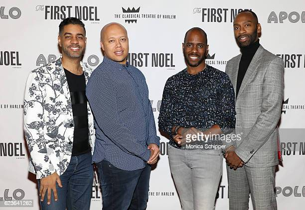 Authors Jason Michael Webb and Lelund Durond Thompson choreographer Brian Harlan Brooks and director Steve H Broadnax III pose for a photo at 'The...