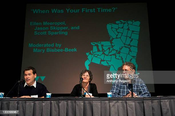 Authors Jason Skipper Ellen Meeropol and Scott Sparling speaks onstage at the 2011 Wordstock Literary Festival at the Oregon Convention Center on...