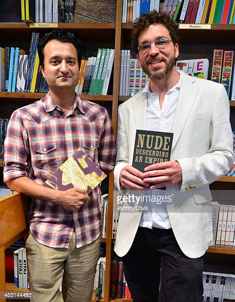 """Authors Jaswinder Bolina and Sam Taylor discuss and sign their books """"Nude Descending an Empire"""" and """"Phantom Camera"""" at Books and Books on August 3,..."""